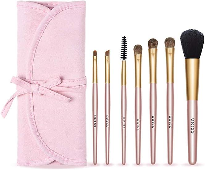 set de brochas para maquillaje 7-Pack herramienta de maquillaje pincel de maquillaje portátil: Amazon.es: Belleza