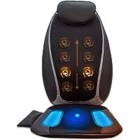 Aront Shiatsu Massageauflage mit Wärmefunktion Elektrisch Massagesitzauflage mit Kneten Rollmassage Vibrationmassage für Nacken Rücken Gesäß Entspannung für Haus Büro Auto