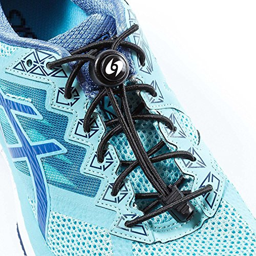 SPORTS LACES - No Tie Elastic Shoelaces that Lock,Replacement Elastic Running Shoelaces for Mens, Womens, Seniors & Kids Shoes, Cleats, Boots(1 Pair)