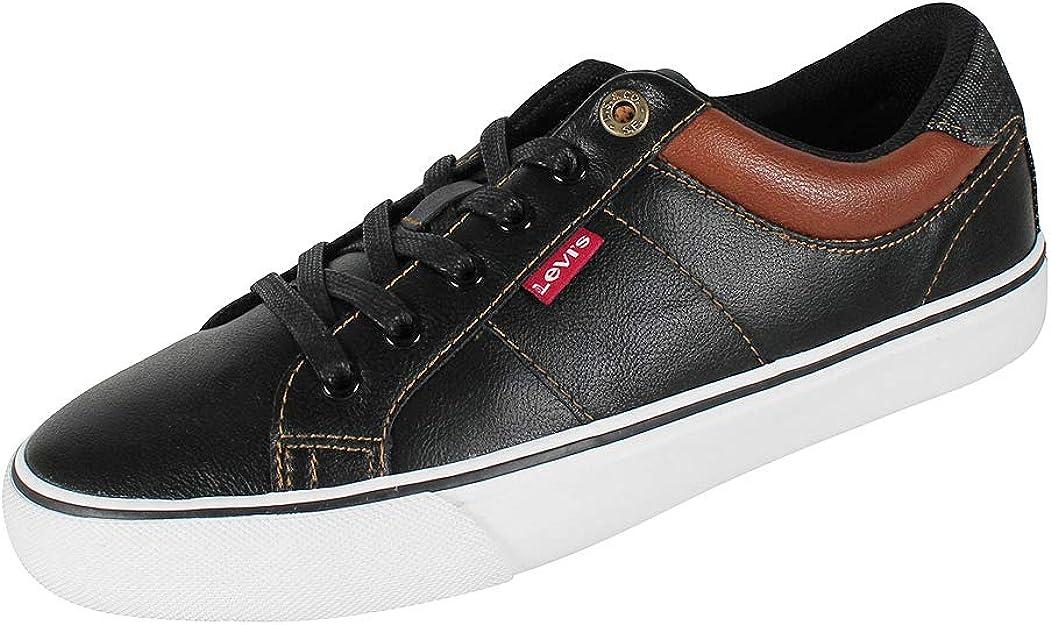 Levi's Abbott White Herren Sneakers Schwarz