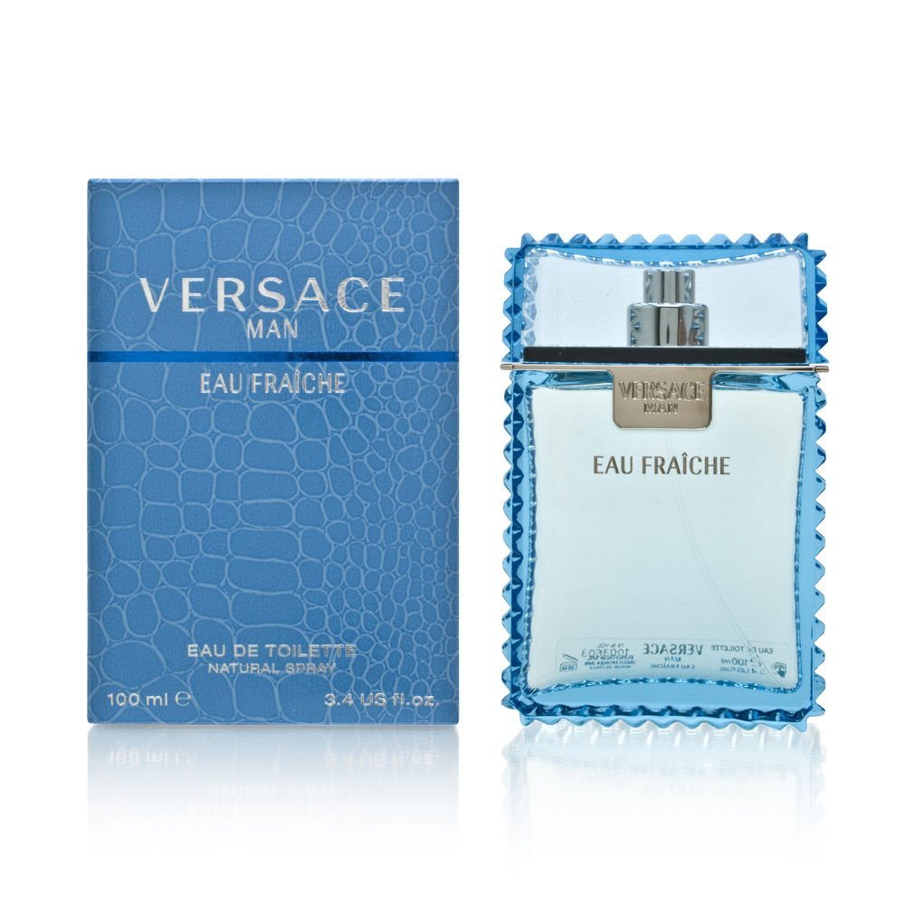 Versace Man Eau Fraiche 3.4 oz Eau de Toilette Spray StrawberryNet V500010