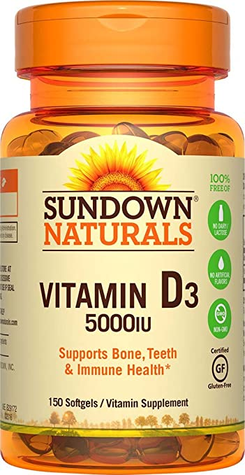cde340efa Image Unavailable. Image not available for. Color  Sundown Naturals Vitamin D3  5000 IU ...