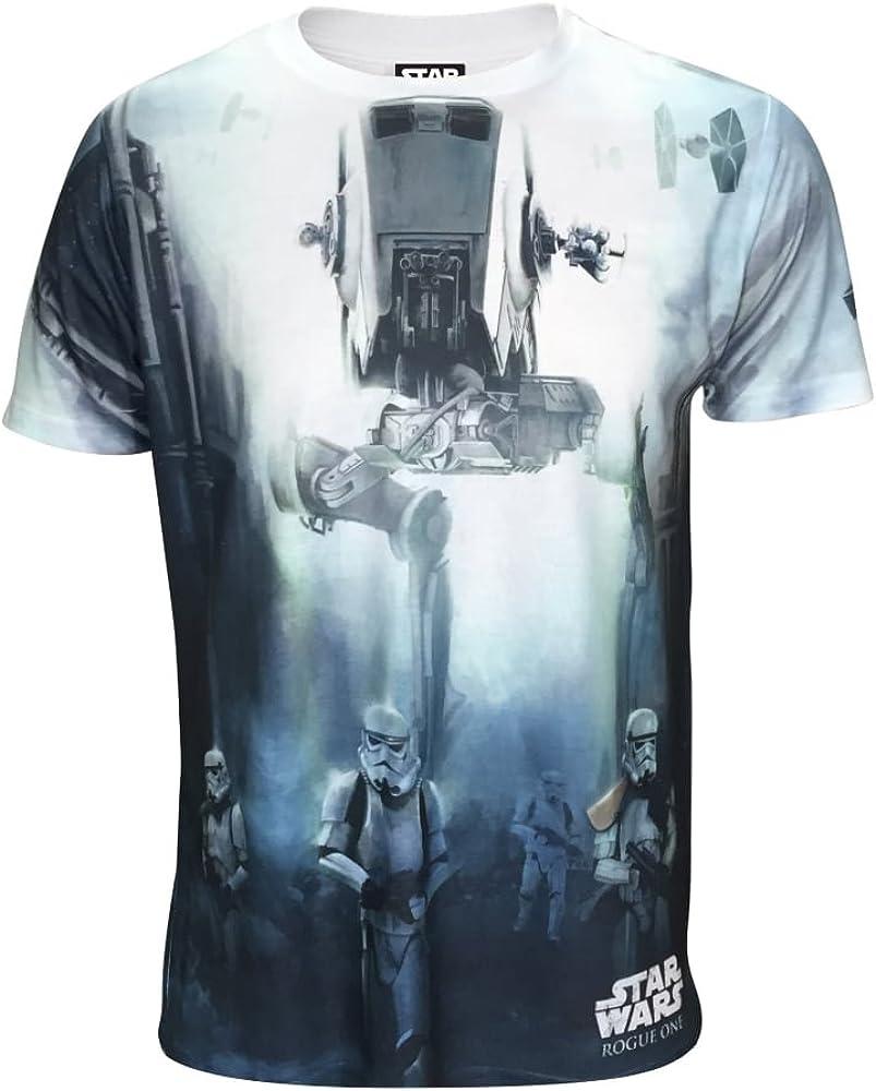 STAR WARS - Camiseta con diseño de AT-ST para Hombre (XXL) (Blanco): Amazon.es: Ropa y accesorios