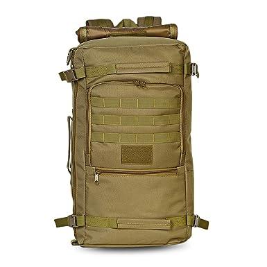 Wenquan,Bolso impermeable al aire libre de la mochila táctica 60L para caminar que acampa