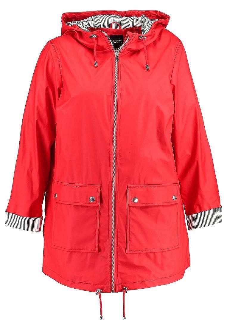 Ex New Look Curves Women's Plus Size Water Proof Mac Rain Jacket R10098-PARENT