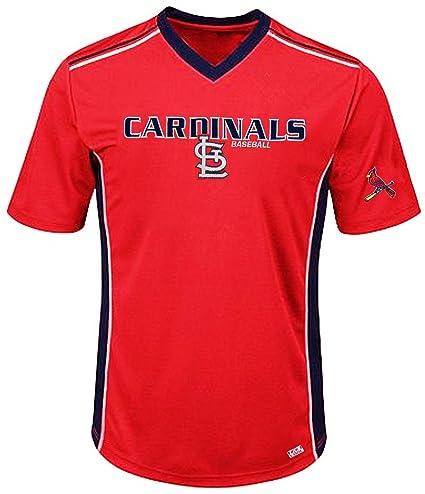 ddffcc411 VF St. Louis Cardinals MLB Mens Cool Base Performance V Neck Jersey Red Big  Sizes