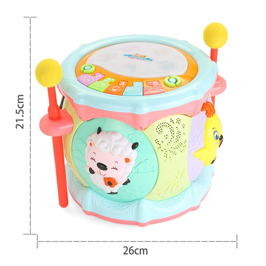 LIPENG-TOY 0-3-6 Years Old Children Learn to Sing Can Accompaniment Hand Drums Baby Infant Enlightenment Baby Toys Boys and Girls (Color : Multi-Colored)