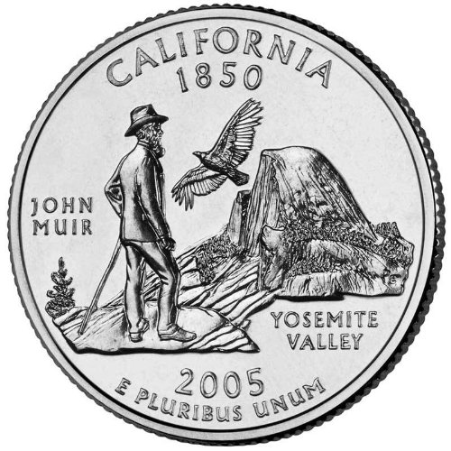 - 2005-D California State Quarter BU Roll