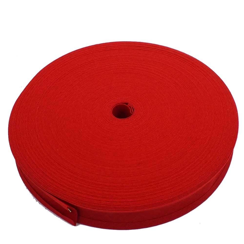 25mm Bias Binding Tape Trim 100% Cotton - Scarlet - 5m The Bead Shop