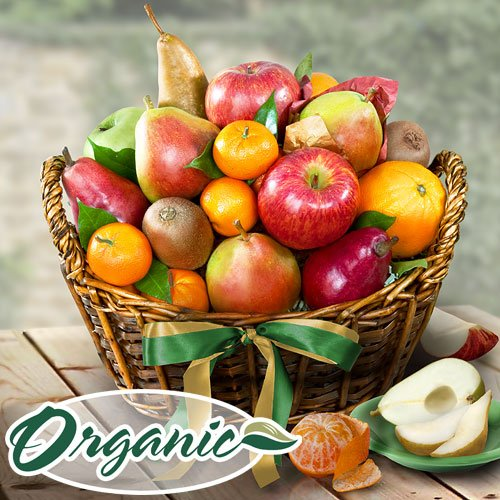 Organic California Bounty Fruit Basket by Golden State Fruit