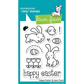 Amazon.com: Lawn Fawn Clear Stamps-Happy Easter: Arts, Crafts & Sewing