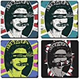 Sex Pistols Queen / Union Flags set of 4 cork backed drinks coasters (hb)