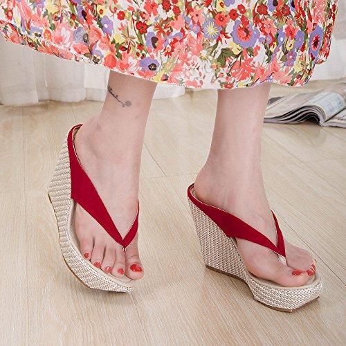con zapatillas Summer gruesas red La de sandalias Code of pendiente la xqyHU7OY