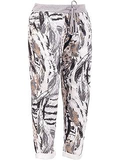 34376352331 ... Trousers Joggers Plus Size. LavishFashionTown New Italian Ladies Women  Elastic Waist Cotton Summer Trousers…
