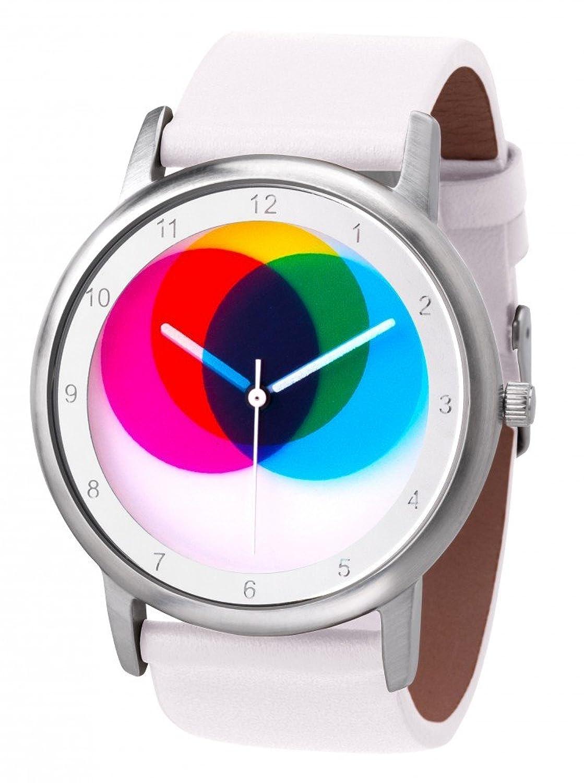 Avantgardia CMYK - (NEUES DESIGN) – Rainbow e-motion of color Unisex Armbanduhr EdelstahlgehÄuse