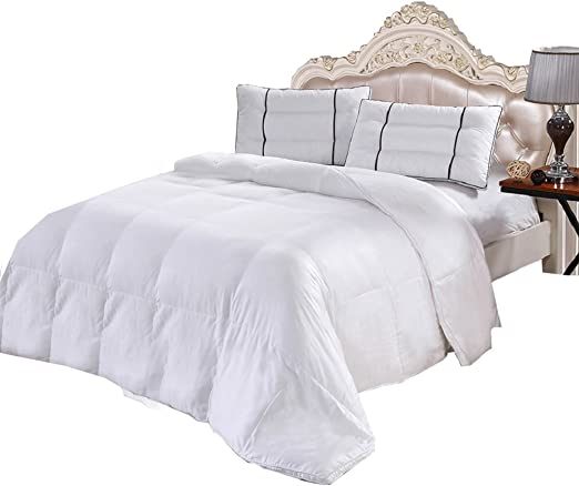 Bamboo Cool Comforter Baffle Box Down Alternative Duvet Insert All Season