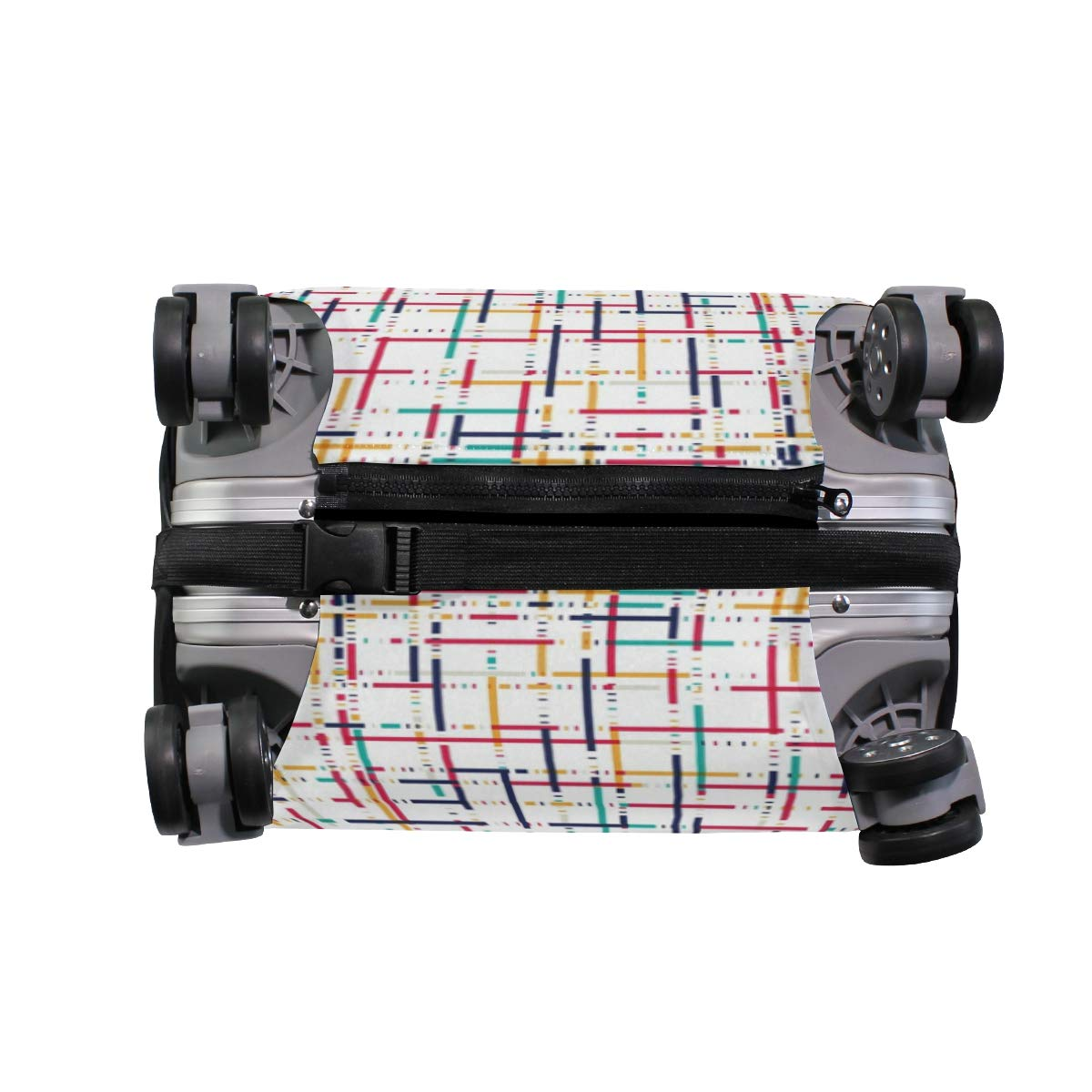 Baggage Covers Abstract Colorful Pattern Stripe Washable Protective Case