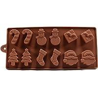 6 Forme di Natale Torta di cioccolato della gelatina del silicone del ghiaccio fondente della muffa della muffa di cottura