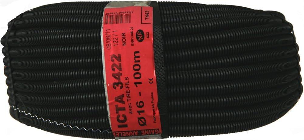 Janoplast JAN100591 Gaine ICTA avec tire fil//lubrifi/ée 50 m Diam/ètre 16 mm