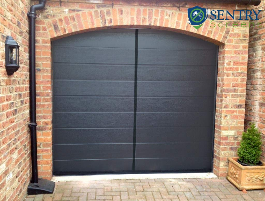 Single 1 car Double Car Also Available Sized Screens Magnetic Garage Door Screen Stronger 1,400gs High Energy Magnets - 60g Fiberglass Mesh Weighted Bottom Black