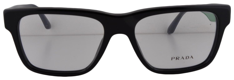 f0589f3ceeb4 Amazon.com  Prada PR 16RV Eyeglasses 51-16-140 Black 1AB-1O1 VPR16R For  Women (FRAME ONLY)  Clothing