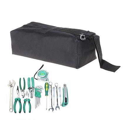 Tool Bags Original Oxford Canvas Waterproof Storage Hand Tool Bag Screws Nails Drill Bit Metal Parts Fishing Travel Makeup Organizer Pouch Bag Case