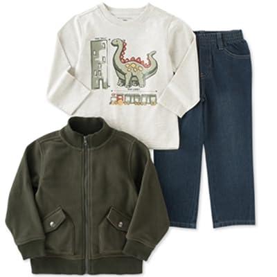 Kids Headquarters Little Boys' 3-Piece T-Shirt, Jacket & Jeans Set