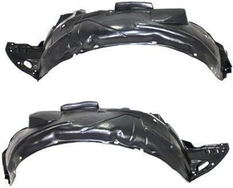 Titanium Plus Autoparts 2006-2011 Compatible With HONDA Civic Front Left Driver Side splash guard splash shield fender liner Liner Apron HO1250106