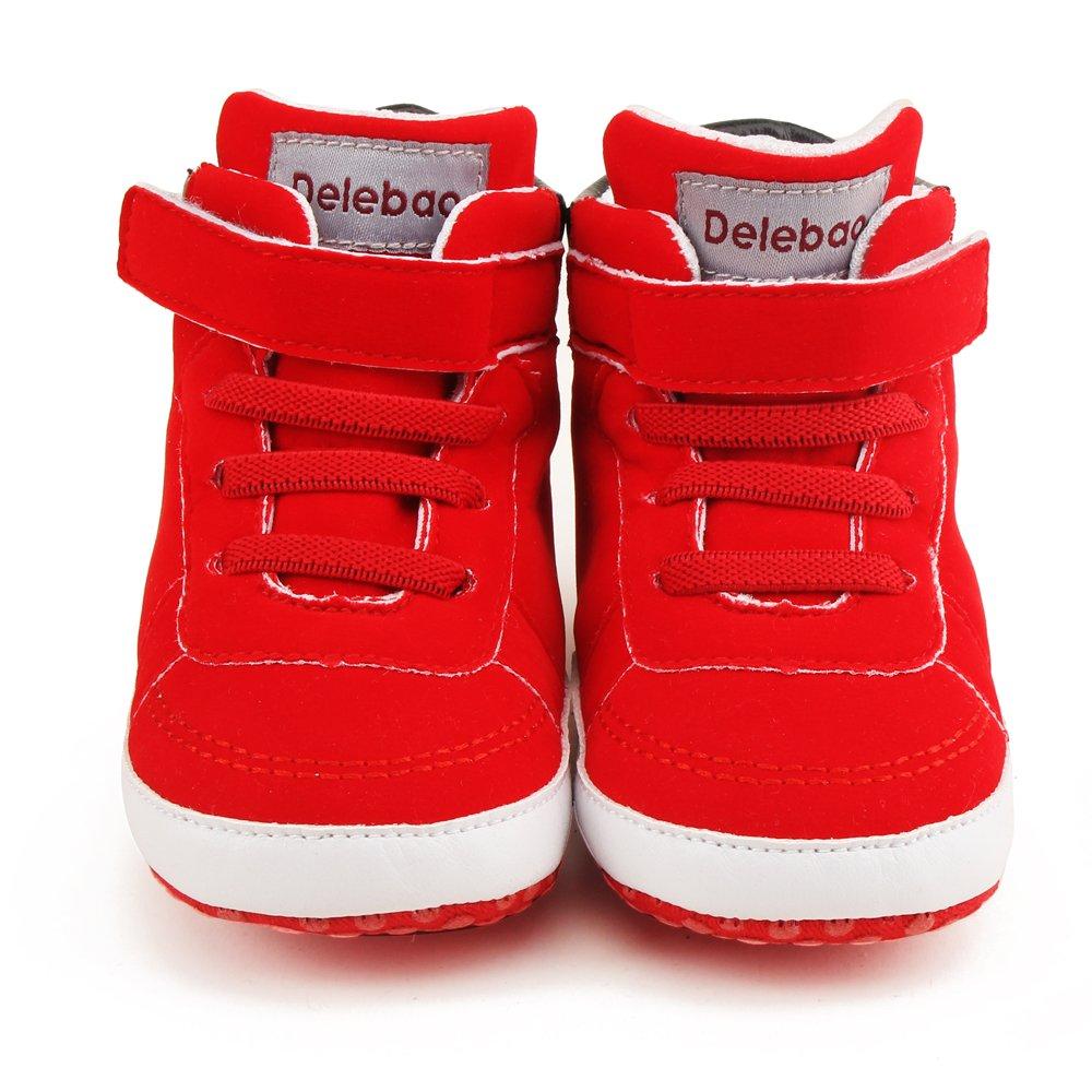 DELEBAO Botas de Beb/é Zapatitos de Recien Nacido Primeros Pasos Zapatos para Caminar Zapatillas Bebe con Suela Blanda Botines para Bebes Ni/ña Ni/ño
