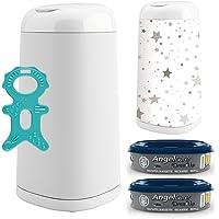 Angelcare® Dress-Up Kit de démarrage : poubelle à couches + 2 recharges + housse de poubelle Flying Stars
