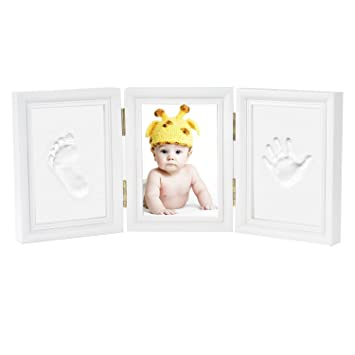 Amazon.com : Baby Handprint and Footprint Kit Photo Frame Newborn ...