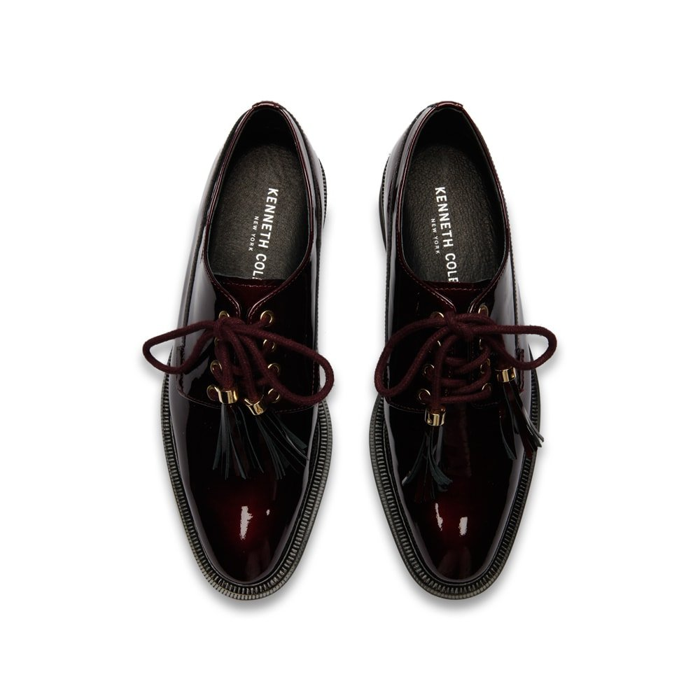 Kenneth Cole New York Women's Annie Menswear Style Leather Oxford, Wine, 8 M US by Kenneth Cole New York (Image #2)