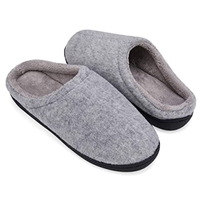 88557a426724b NiNE CiF Womens Felt Mule Slippers Warm Bed Cosy House Slippers Non Slip  Grey Pink