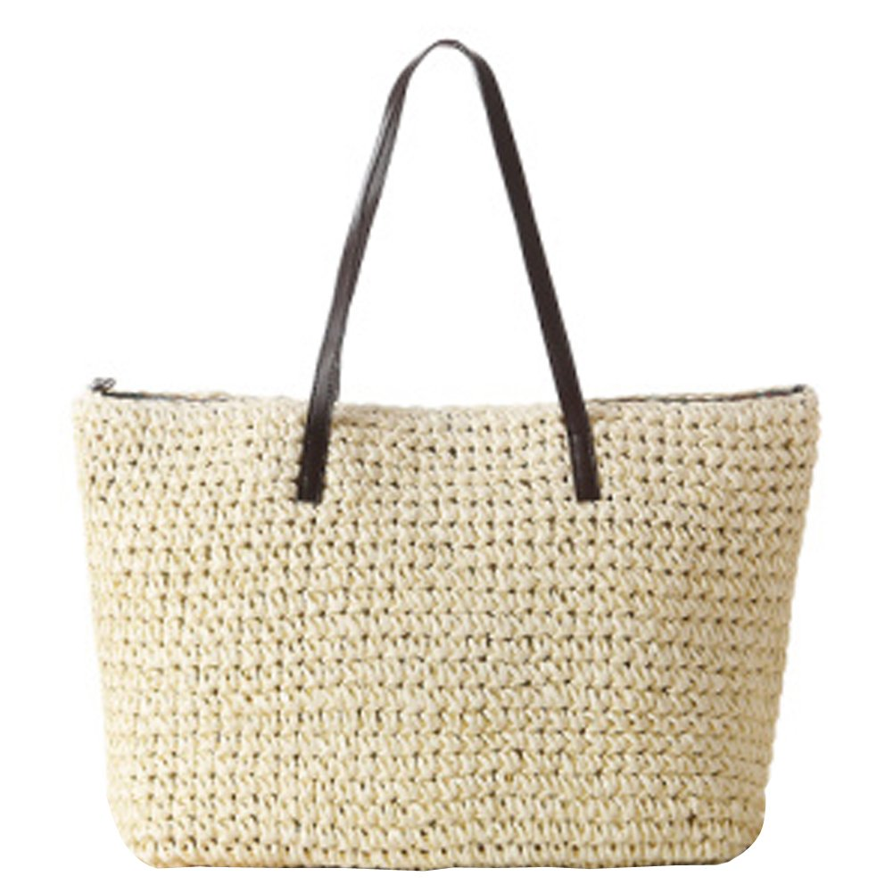 eYourlife2012 Women's Classic Straw Summer Beach Sea Shoulder Bag Handbag Tote