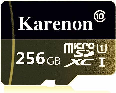 Karenon - Tarjeta de Memoria Micro SD SDXC de 256 GB (Clase 10 ...
