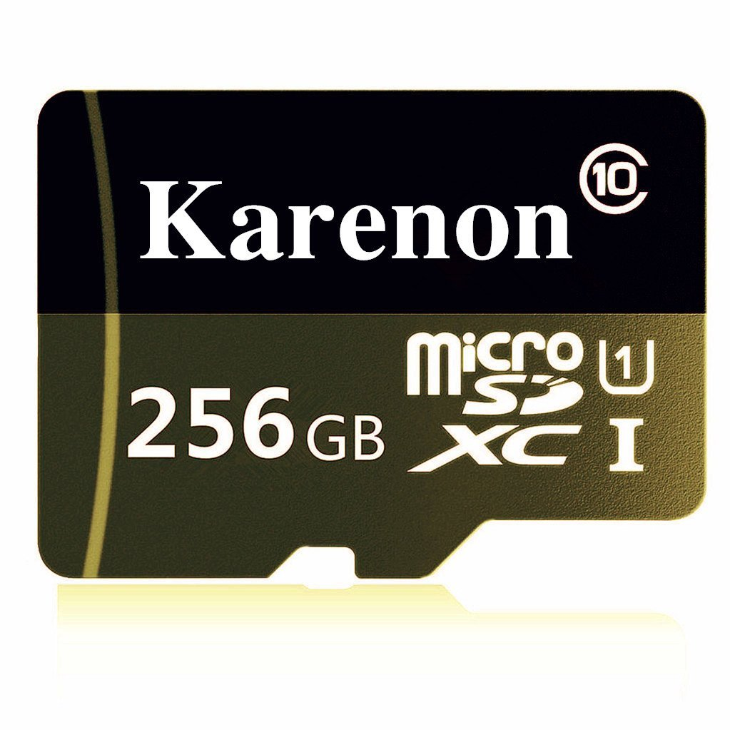 Karenon 256GB Micro SD SDXC Memory Card High Speed Class 10 with Micro SD Adapter, Designed for Android Smartphones, Tablets And Other MicroSDXC Compatible Devices