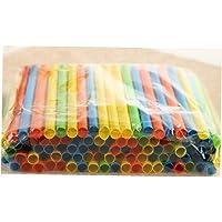 Plastic Herbruikbare Drinkrietjes Apart Verpakt Kleurrijke Rietjes 8 Duim Lang En is 1/8 Inch Voor Milkshake Smoothie…