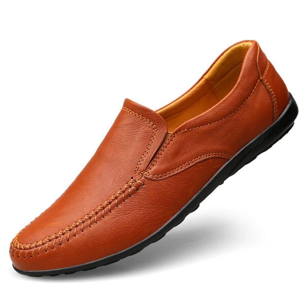 YAN Herrenschuhe 2018 Leder Feder/Falllicht Sohlen Loafers & Slip-Ons Comfort Loafers Fahr Schuhe, D,47