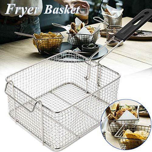 (JohnnyBui - 21x18cm Stainless Steel Fryer Food Sieve Fry Chef Basket Strainer Net Kitchen Colander Rinse Filter Sieve Kitchen Cooking Tools)