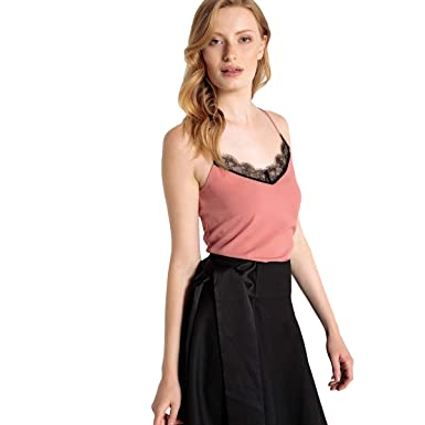 La Redoute Collections Womens Laced Neck Camisole Nbsp  at Amazon Women s  Clothing store  2329c0208269