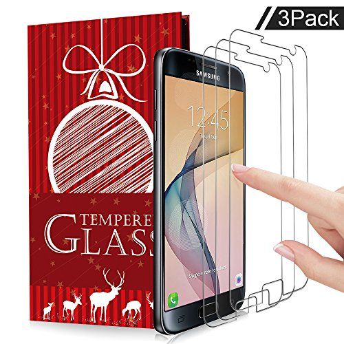 Samsung Galaxy S7 Screen Protector, XUZOU Tempered Glass, 9H Hardness [Case Friendly] [Anti-Scratch] [Anti-Fingerprint] [Bubble Free] for Samsung Galaxy S7 (3 Packs)