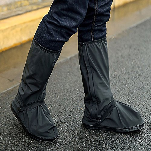 HooAMI Rain Overshoes Boots, Waterproof Rubber Boots Cover for Outdoor Sports Rain/Snow, Size XL