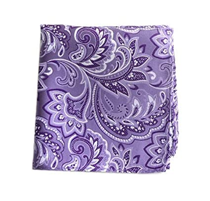 8bf16aecbee7f The Tie Bar 100% Woven Silk Pink Paisley Pocket Square at Amazon Men's  Clothing store: Handkerchiefs