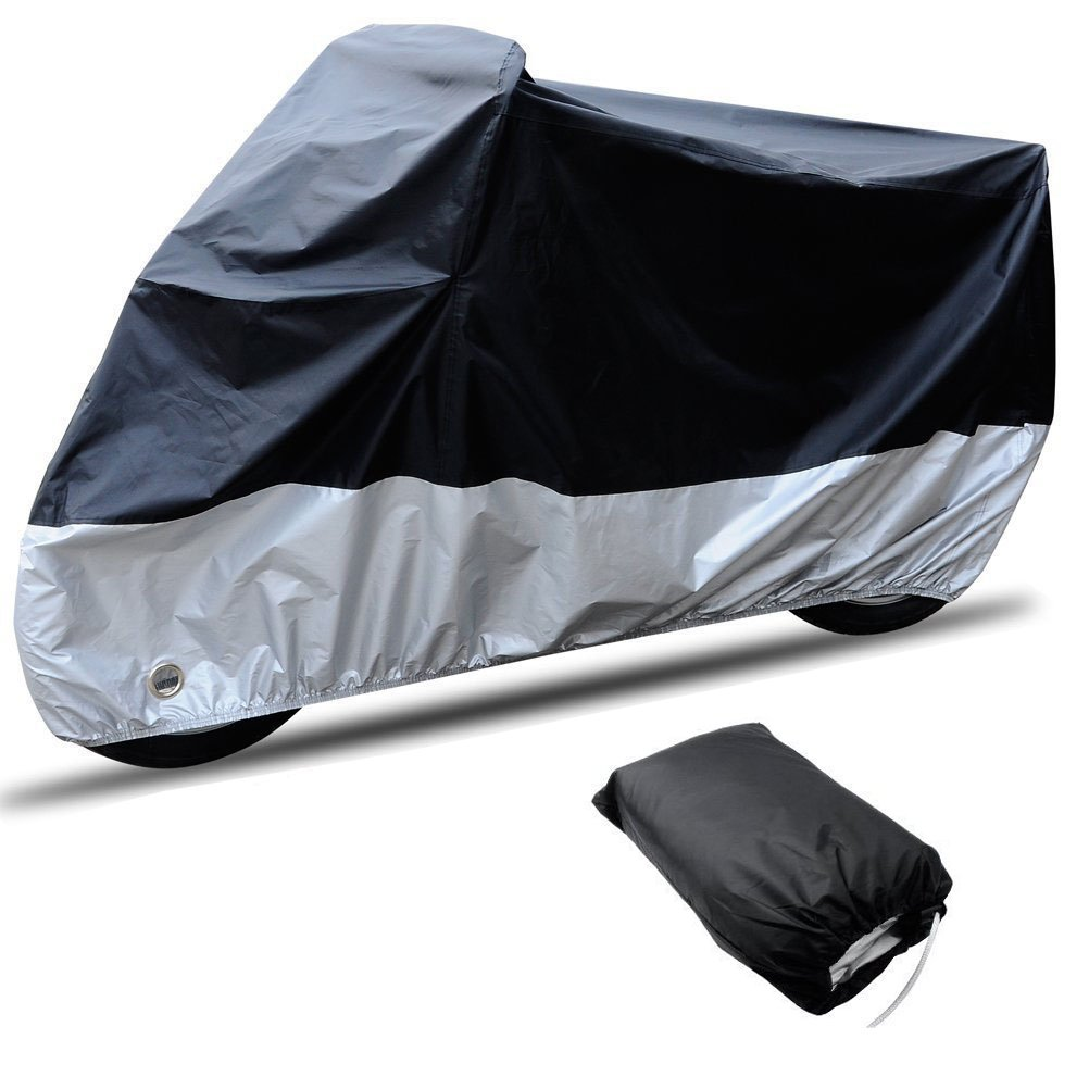 carsun All Season Two-colour Design Outdoor/Indoor Waterproof Motorcycle/Bike Cover(size3-116.1''x43.3''x55.1'')