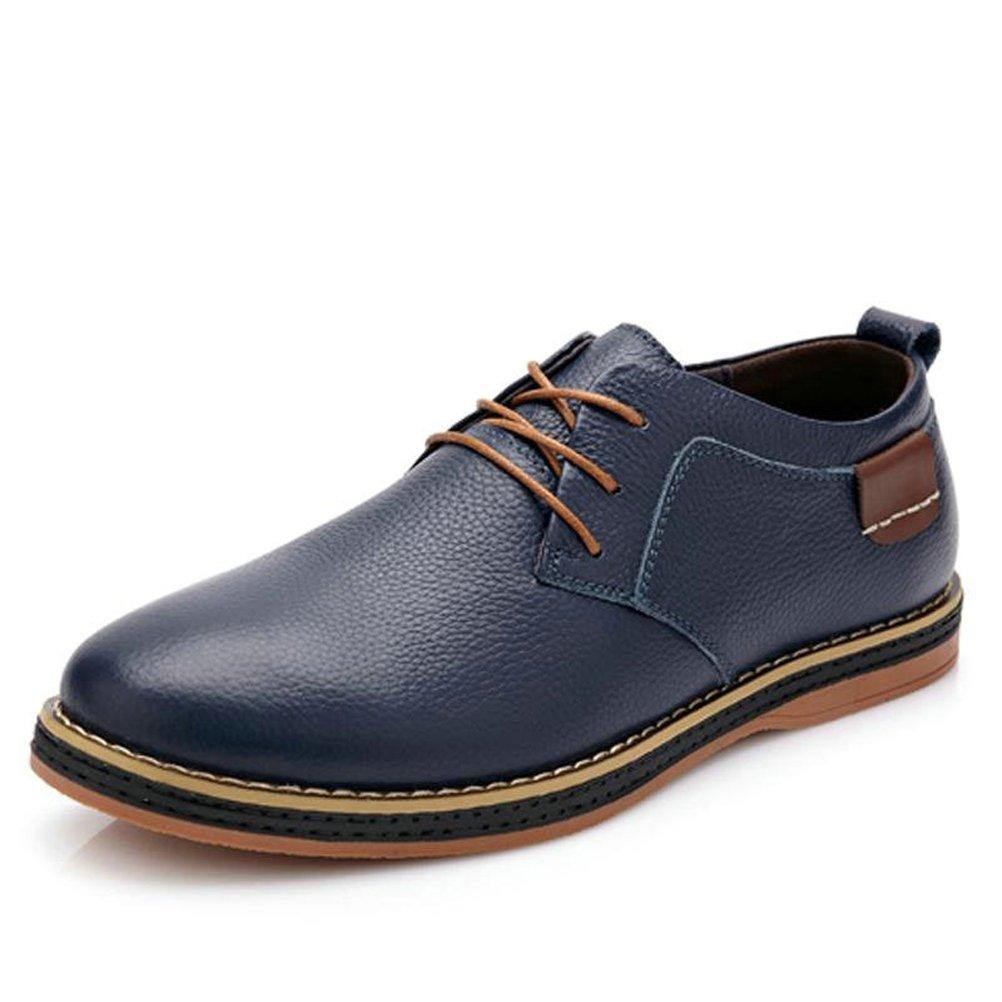 Mä nner Casual Shoes Echte Leder-Flach Schuhe Oxford Fashion Dress Arbeitsschuhe