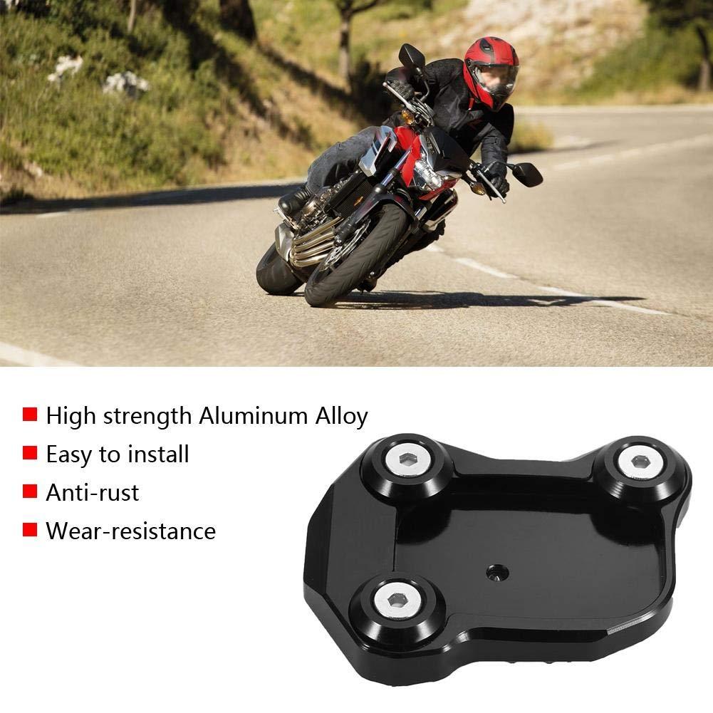 Akozon Kick Stand Motorcycle Modification Enlarger Anti-slide Side Kick Foot Stand for Honda CB650F 2017-2018