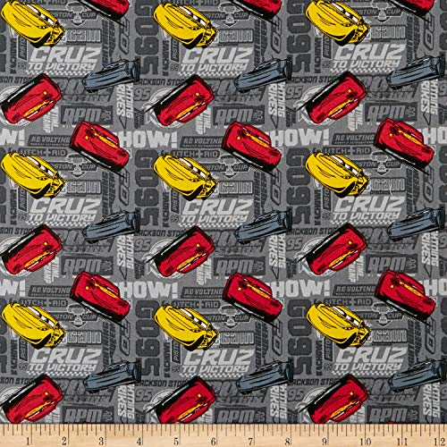Springs Creative Products Disney Pixar Cars Cars Toss Fabric, Multicolor, Fabric By The -