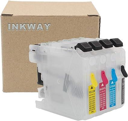INKWAY - Cartucho de Tinta para Impresora Brother DCP-4120DW ...