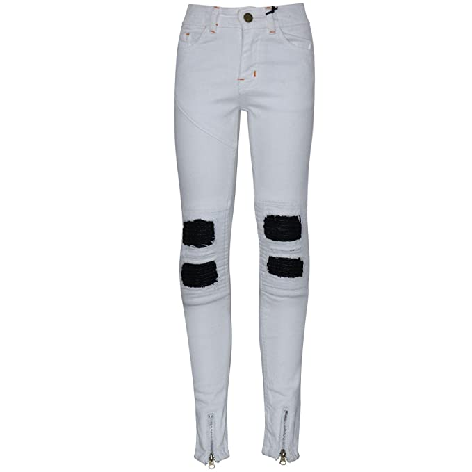 e8cc0fba5e3 A2Z 4 Kids Kids Boys Stretchy Jeans Designer s White Ripped Denim Skinny  Pants Fit Trousers New Age 5 6 7 8 9 10 11 12 13 Years  Amazon.co.uk   Clothing