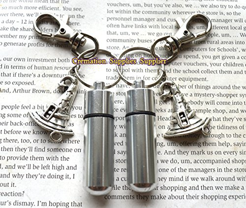 Lovely Silver Personal CREMATION URN Keychain/Keepsake with Witch hat Cremation Keychain,Witch hat cremation Collection